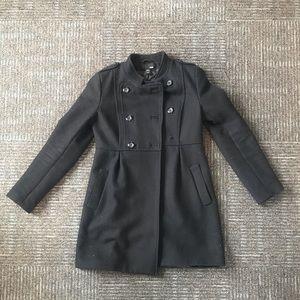 Baby doll black trench coat
